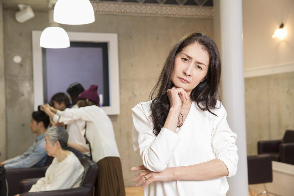 訪問美容について考える美容師