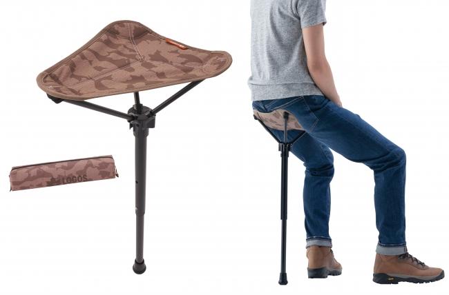 ロゴスの軽量持ち運び椅子の写真