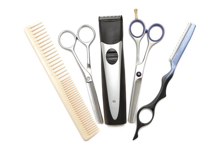 美容師道具の写真