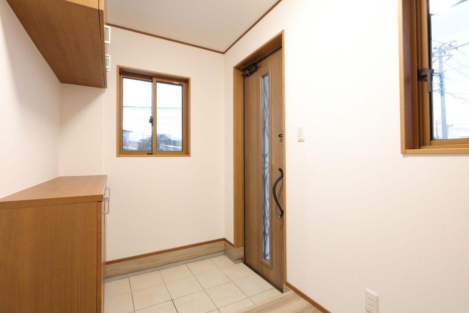 訪問時の玄関の写真